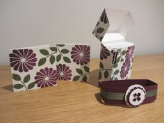 Flip Top Card Gift Box Tutorial 'Crazy About You' from Stampin' Up