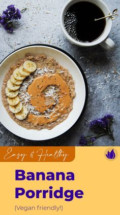 Use up those overripe bananas with this Banana Porridge. Put your own twist on it with your choice of toppings! Easy Porridge Recipes, Breakfast Bowls, Breakfast Recipes, Smoked Salmon And Eggs, Overripe Bananas, Seasonal Food, Healthy Fruits, Food Waste
