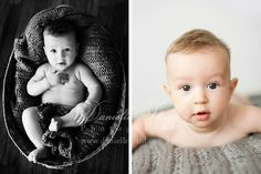 gathering ideas for shooting 5-6 month old babies.  this one is a cutie!