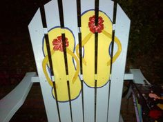 My Adirondack Chair @ Lydic Island...I painted flip flops on it...