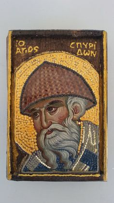 Items similar to Saint Spyridon 3 - Άγιος Σπυρίδων 3 on Etsy Orthodox Icons, Ikon, Catholic, Saints, Mosaics, Handmade Gifts, Painting, Women's Fashion, Etsy