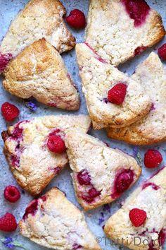 raspberry cream scones | raspberry scones | scones recipe | breakfast ideas