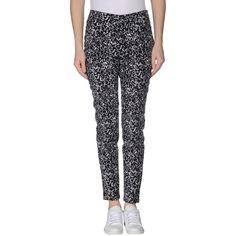 Michael Michael Kors Casual Trouser (€56) ❤ liked on Polyvore featuring pants, black, michael michael kors, five pocket pants, peg-leg pants, two tone pants and zipper trousers
