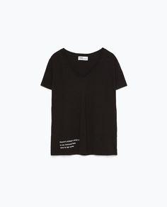 TEXT PRINT T-SHIRT from Zara