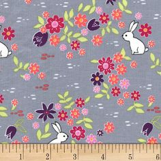 Michael Miller Front Yard Bunny Tracks Cloud from @fabricdotcom  Designed by Sandra Clemons for Michael Miller Fabrics, this cotton print collection features geometric prints and florals that are sure to brighten up your day. Perfect for quilting, apparel, and home decor accents. Colors include grey, white, shades of green, shades of purple, and pink.
