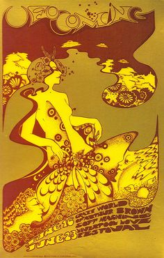 The Crazy World of Arthur Brown and The Soft Machine at The UFO Club June 1967. Art by Hapshash.