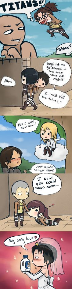 ymir and christa & ymir ; ymir x christa ; ymir x historia ; ymir and christa ; ymir and historia Attack On Titan Comic, Attack On Titan Ships, Attack On Titan Fanart, Aot Funny, Funny Comics, Aot Memes, Funny Memes, Ymir And Christa, Mini Comic