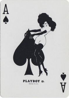 The Ace of Spades from Bicycle® Playboy Playing Cards Playing Cards Art, Vintage Playing Cards, Queen Of Spades, Ace Of Spades, Spade Tattoo, Ace Card, Leroy Neiman, Art Carte, Joker
