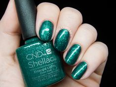 CND Shellac Emerald Lights @chalkboardnails