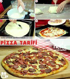 Evde Pizza Nasıl Yapılır? Pizza Recipes, My Recipes, Cooking Recipes, Favorite Recipes, Healthy Recipes, Turkish Pizza, Turkish Recipes, Food Art, Food And Drink