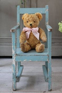 can display mom's old bear on grandmom's even older chair!