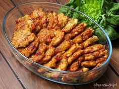 Kotlety szarpane Polish Recipes, Tandoori Chicken, Chicken Wings, Chicken Recipes, Grilling, Food And Drink, Gluten Free, Cooking Recipes, Tasty