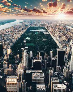 Una visión panorámica del Central Park de New York.