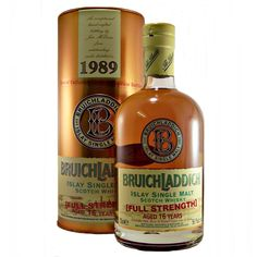 Bruichladdich 1989 Full Strength 16 year old Single Malt Whisky available to buy online at specialist whisky shop whiskys.co.uk Stamford Bridge York
