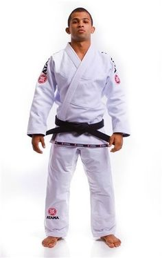 Jiu Jitsu Gi - Atama Mundial #9 White Black Blue A1-A4