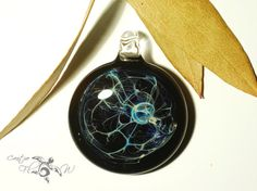 Web of Life Pendant - Glass Necklace by Creative Flow Glass.