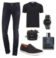 """MEN'S FASHION"" by mureet ❤ liked on Polyvore featuring Jacob Cohёn, Versace, ECCO, Skagen, Chanel, men's fashion and menswear"