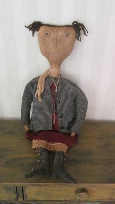 Primitive Doll by Bettesbabies on Etsy