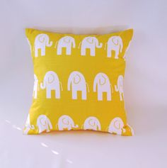 love this yellow elephant cushion