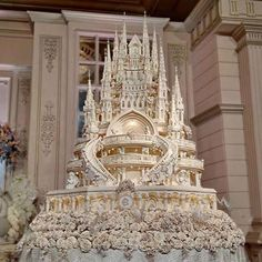Welcome to Linda Ikeji's Blog: Wow! Check out this Indonesian couple and their magnificient castle cake
