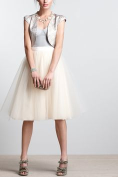 Karinska Tulle Skirt / Anthropologie.com {i really want this... but i don't know that I could rock this}