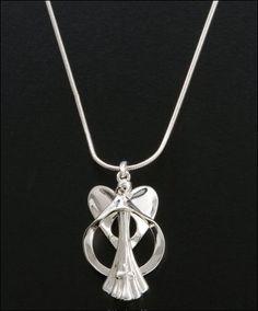 Circle of love angel pendant