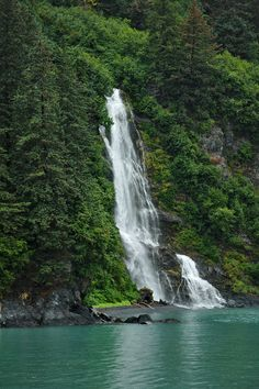 The #waterfalls in #Valdez, #Alaska are beautiful.   More in my gallery: http://www.lwpetersenphotography.com/Gallery/Valdez/