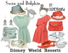 By DisneyBound. They're technically not Disney resorts, but I still love these dresses!