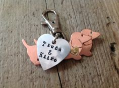 Doxie Love Dachshund Keychain by tagsoup on Etsy, $18.50