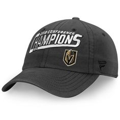 3561cce59fe Vegas Golden Knights Fanatics Branded 2018 Western Conference Champions  Fundamental Adjustable Hat – Gray