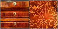 antique wood furniture with inlays... Robert Corprew Antiques and Luisana Designs & Antiques #hpmkt #designonhpmkt
