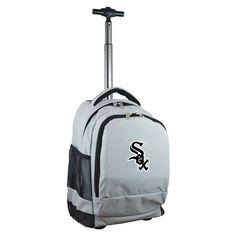 Denco Sports Mojo Chicago Sox Premium Grey Wheeled Backpack