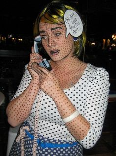 lichtenstein costume ideas and tutorial (I'm not sure how I should feel about being part of the 90% of people who found her website by looking for Lichtenstein costume ideas)