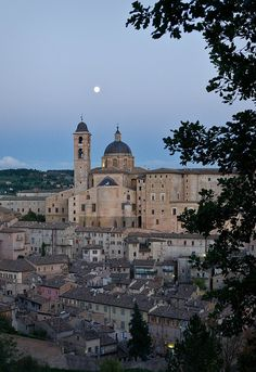 Full moon over Urbino, province of Pesaro and Urbino  Italy | Paturb - Flickr , Marche Italy