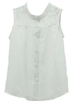 c2ca2997d846 Amazon.com  Baby Girls Kids Summer Sleeveless Lace Chiffon Tops Shirt  Blouse Tee Shirts (2-3 Years)  Clothing