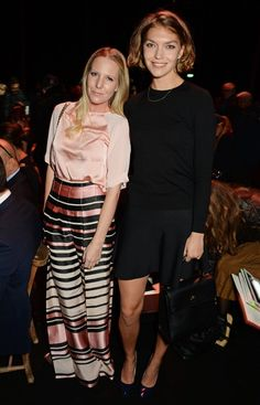 Pin for Later: See All the Celebrities at London Fashion Week Alice Dellal and Arizona Muse At the Charlotte Olympia show.