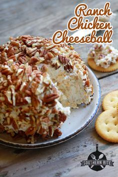 Ranch Chicken Cheeseball - Yummy and full of ranch flavor! It's one of my MOST requested recipes.