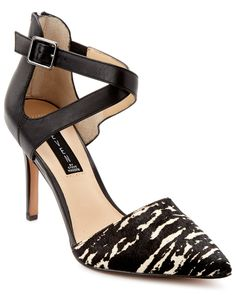 """Spotted this STEVEN by Steve Madden """"Alicia"""" Leather & Hair Calf Pump on Rue La La. Shop (quickly!)."""