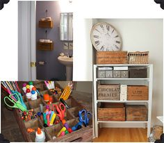 The Creative Studio / spotted and hearted: vintage storage