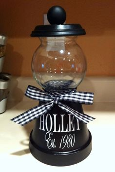 Handmade Candy Jar by ranran1213 on Etsy, $20.00//thought this would make great gift for mothers day :)