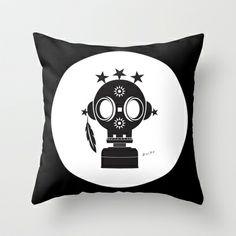 Post World Zuno : Gas Mask 02 Throw Pillow by Zuno - $20.00 Throw Pillows, Shop, Toss Pillows, Decorative Pillows, Decor Pillows, Scatter Cushions, Store
