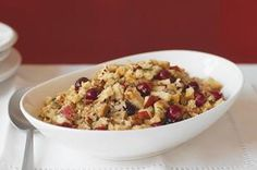 Apple, Cranberry & Pecan Stuffing - You don't need an excuse or a holiday to make this seriously satisfying stuffing studded with nuts, apple and cranberries. It's on the table in 15 minutes, so start chopping.