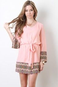 pretty blush tribal print dress #urbanog