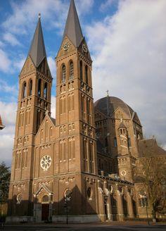 St. Brigidakerk/-church built between 1889 and 1891 in Neo-roman style by architect Carl Weber. Nieuwendijk 2  Geldrop, Netherlands. March 4th, 2014
