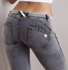 Freddy Jeans Washed Grey Denim Mid Rise WRUP1RA1E J3 Y Grey Jeans 3d010ad4643
