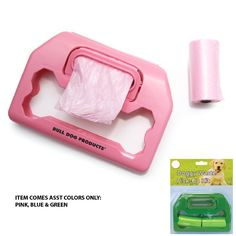 Pet clean up has never been easier with our handy custom printed waste bag dispensers. Available in an assortment of three colors, blue, pink & green. Price includes a one color/one location custom imprint to advertise your company. Each of these waste bag dispensers comes complete with two rolls of 20 disposable waste pick up bags and has a cute bone shaped cut out for the handle. These pet promotions are perfect for veterinary offices, rescue organizations & more!
