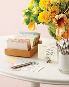 From traditional hardcover books to eclectic love note displays, get inspired by our collection of Good Things for guest books.