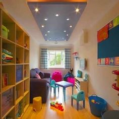 Renovated garage turned into kids play room