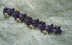 Hey, I found this really awesome Etsy listing at https://www.etsy.com/listing/111585768/beaded-micro-macrame-bracelet-in-purple