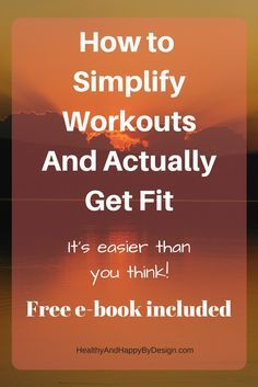 Getting fit doesn't have to be hard.  Working out can be much easier and much more fun than you thought.  I can show you a much better way to fitness - one that is free and easy to do.  Free e-book goes into detail.